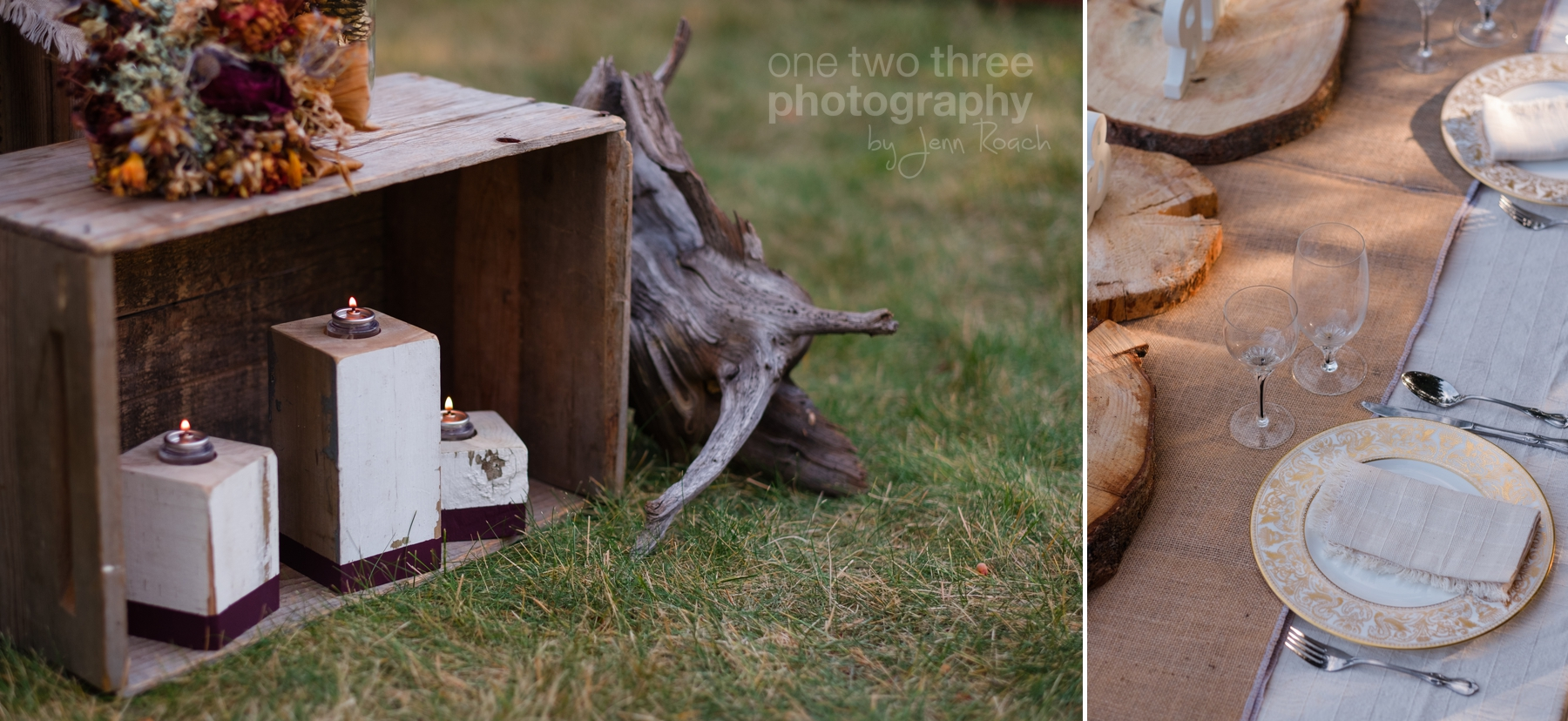 Ideas for Rustic Wedding Decor with burlap and wood