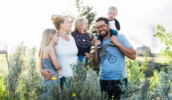 A family session on a beautiful summer evening to celebrate a first birthday